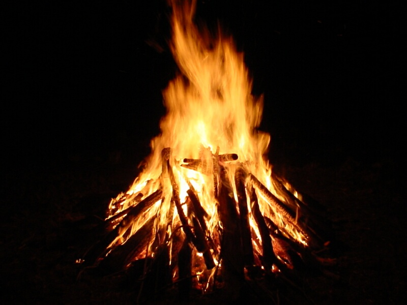 What makes a fire burn